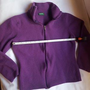 Sz L pre-owned purple Benetton Sweater(runs small)